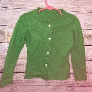 100% Cashmere Green Cardigan